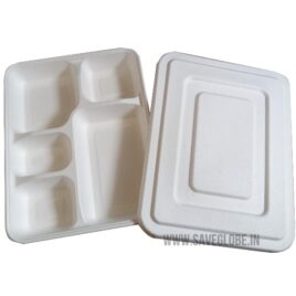 Five Compartment Box with Lid (Pack of 10)