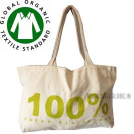10 Bags – 100% Organic Cotton Bag –  Heavy Duty – Export Quality