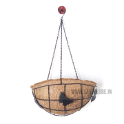 coir half bowl hanging flower pot