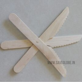 Ecofriendly Disposable Wooden Knife – medium- 5inch – 50Nos