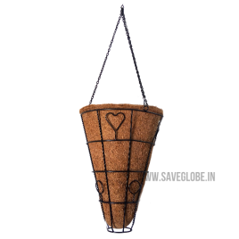 Coconut Coir Basket – Coco Conical  hanger – 9inch