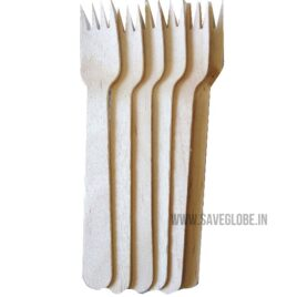 Ecofriendly Disposable Wooden Spork- 6inch – 50Nos