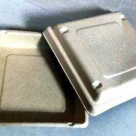 500ml Square Biodegradable Box with lid- Set of 10