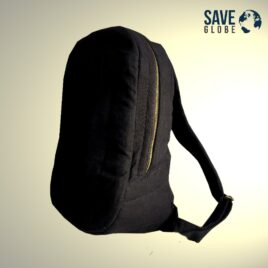 Environment friendly back pack / laptop bag with natural cushion – Black