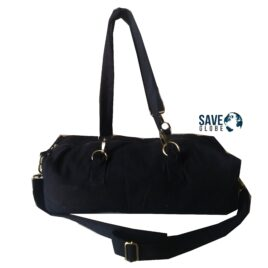 Black Eco friendly Canvas Duffle Bag