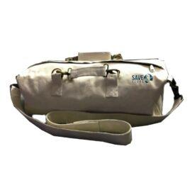 White – Eco friendly Canvas Duffle Bag
